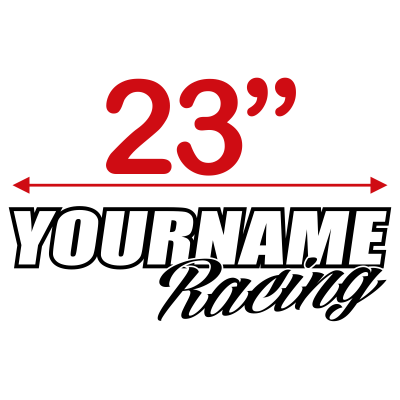 Custom Your Name Race Graphic Single Color - MxNumbers