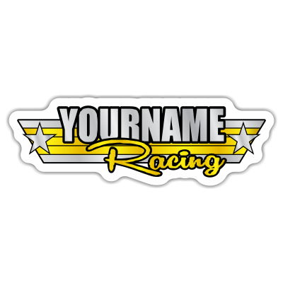 Custom Your Name Racing Trailer Decals -Retro Style- - MxNumbers