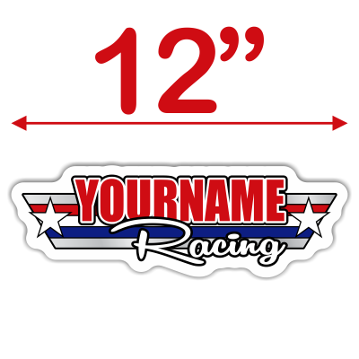 Custom Your Name Racing Trailer Decals -Retro American Style- - MxNumbers