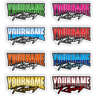 Custom Your Name Racing Trailer Decals - MxNumbers