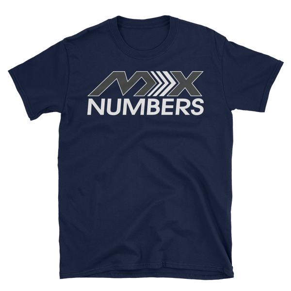 MxNumbers T-Shirt- Arrow- Gray- White- Unisex - MxNumbers