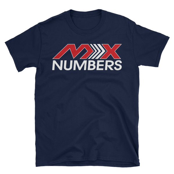 MxNumbers T-Shirt- Arrow- Red -White- Unisex - MxNumbers