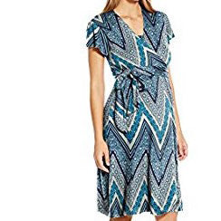 The Kathy Nursing Dress in Modern Chevron