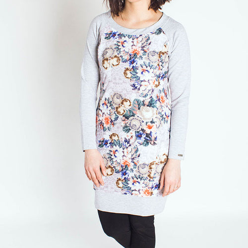 Floral Nursing Tunic with pockets