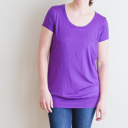 The Classic Nursing Tunic, Grape