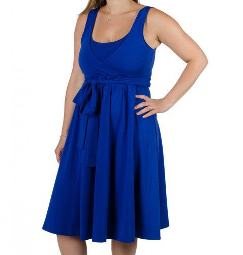 Comfort & Flair Dress in Royal Blue