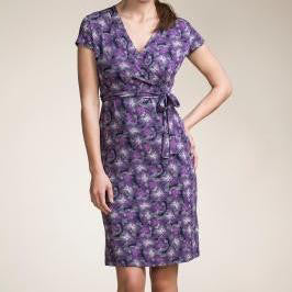 Purple Gardens Nursing Dress