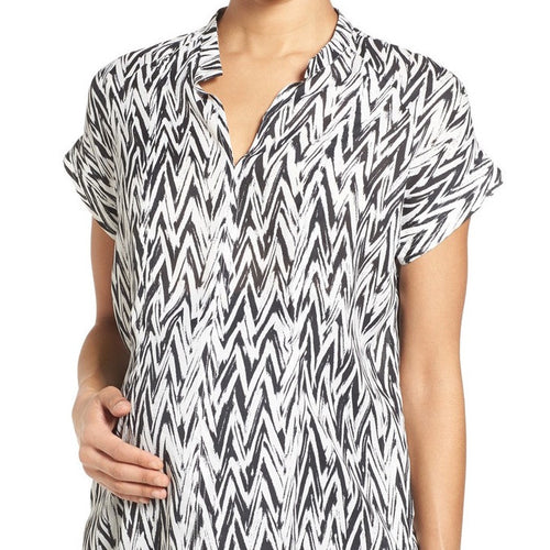 The Modern Chevron Nursing Top