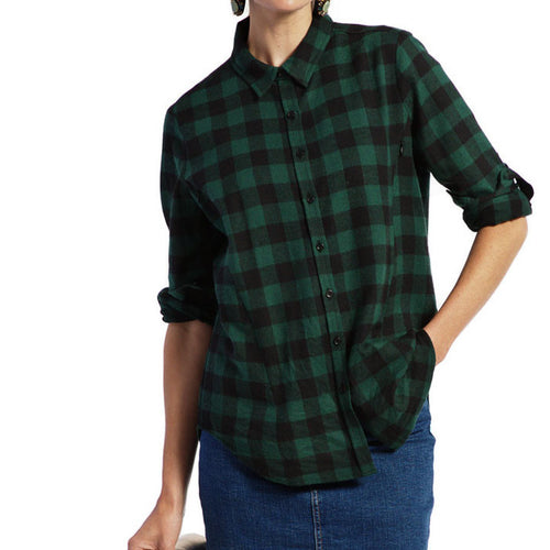 Clad in Plaid Nursing Top