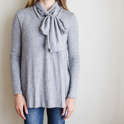 The Olivia Nursing Top in Gray