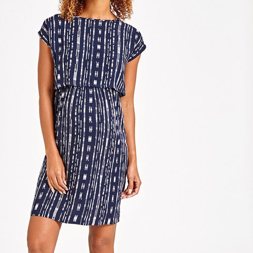 Navy Rain Nursing Dress