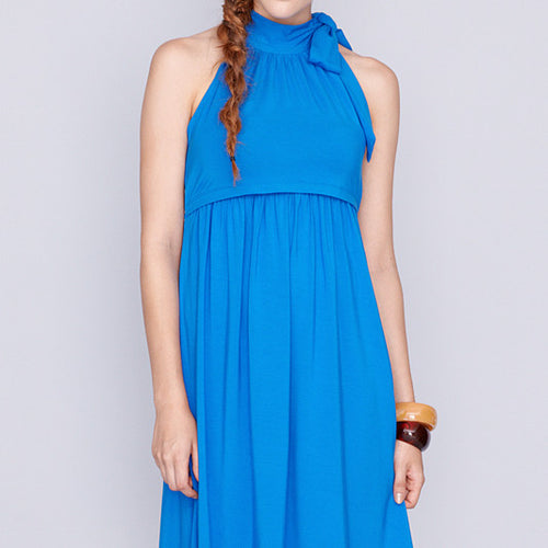 Bowtiful Royal Blue Maternity & Nursing Dress