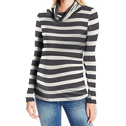 The Charcoal Stripe Nursing Top