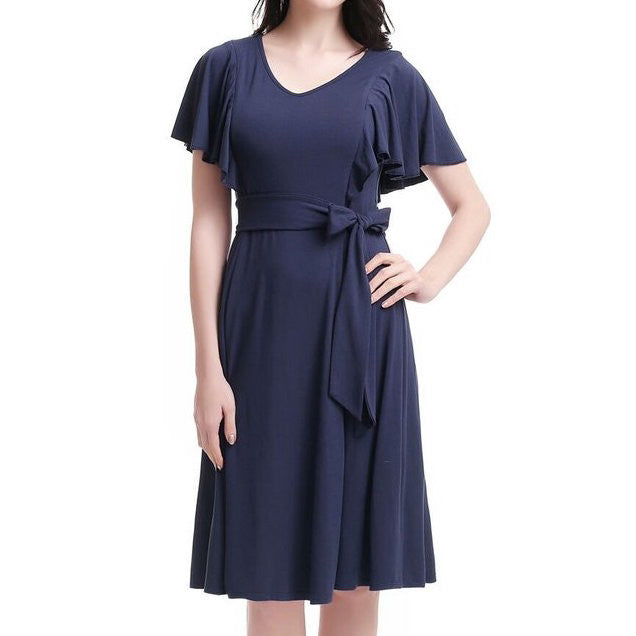 Rhea Nursing Dress, Navy
