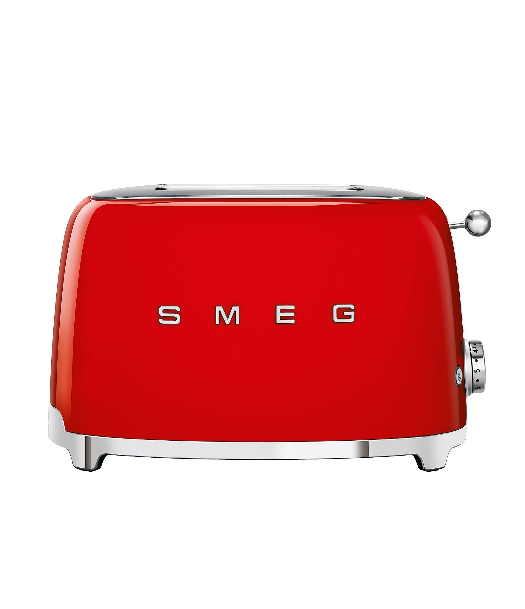 Red and silver Smeg 2 Slice Toaster