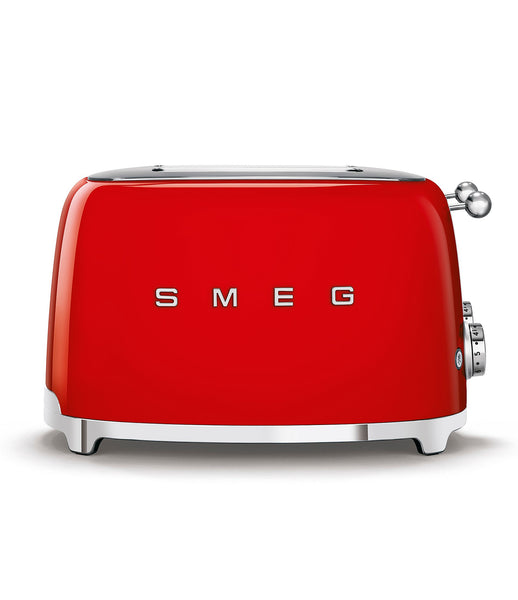 Red and Silver retro Smeg 2 Slice Toaster
