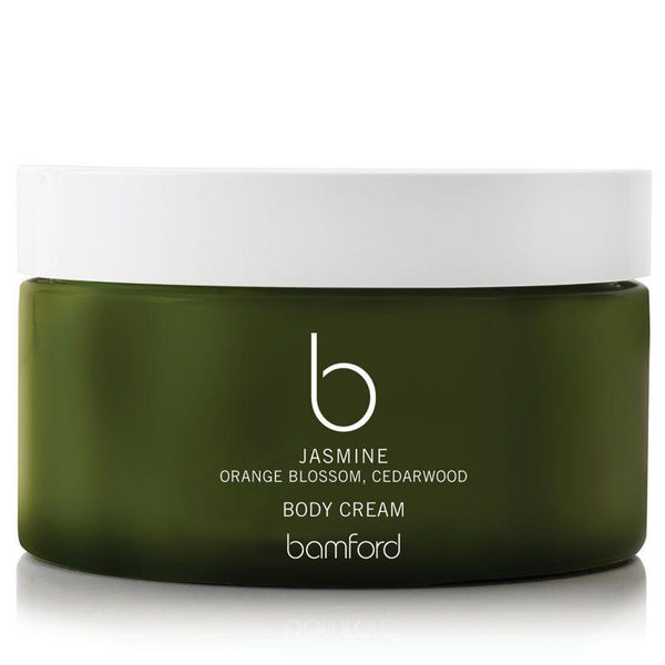 A rich body cream encouraging deep hydration and cell renewal. Scented with Bamford's Signature blend of rose, camomile and lemon, this will revitalise and replenish both body and mind.  95% organic ingredients, certified by the soil association. Free from sulphates, parabens, gmo ingredients, artificial fragrance and colour.  SIZE 200Ml  FRAGRANCES  Rose/Camomile/Lemon Jasmine/Orange Blossom/Cedarwood Geranium/Lavender/Peppermint