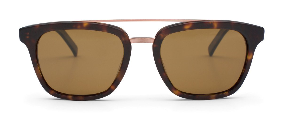 OTIS Eyewear, Non Fiction. Tortoise shell rim with brown lenses.