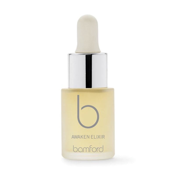Awaken  A highly concentrated blend of apple, lemon and red grape extracts help to gently resurface skin and promote essential cell regeneration. Skin is left smooth, soft and its texture refined. These precious drops can be used alone or mixed with your favourite product to boost.