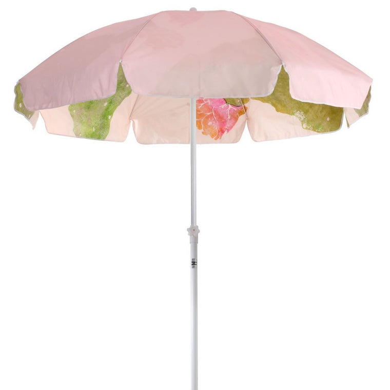 Business & Pleasure Pink Cactus Beach Umbrella