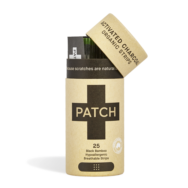 Organic Bamboo Bandages. PATCH is crafted with 100% organic bamboo fibre with the added natural goodness of activated charcoal, aloe vera and coconut oil.