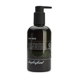 Daylesford organic hand wash. Black bottle and black push down pump lid. Nourishing botanical extracts to soften and soothe your hands 99% natural and 85% organic ingredients. Rosemary scent.