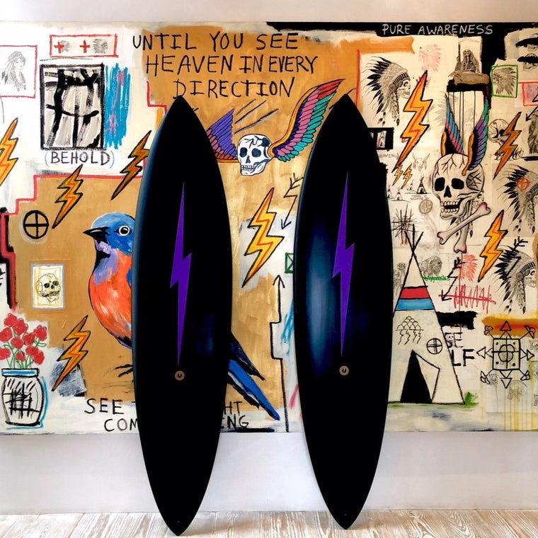 Album X One Gun Lightning Bolt Surfboard