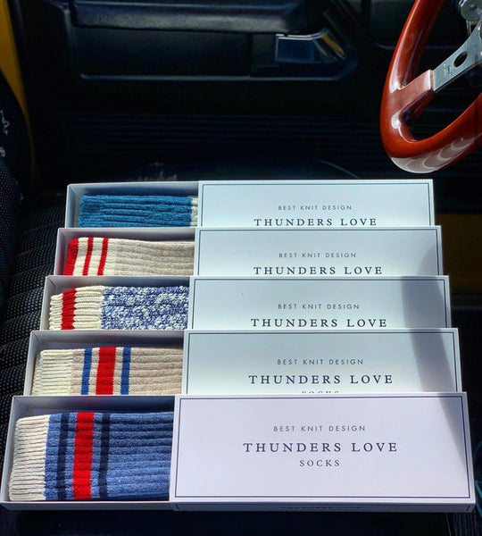 Thunder Love Nautical Turn Socks. Made with Egyptian cotton yarns,  -Combed cotton 96% -Polyamide 3% -Elastane 1%
