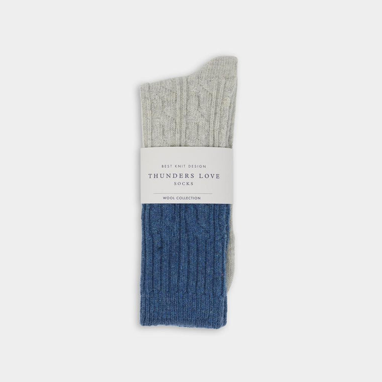 Thunder Love Wool Collection Cable Knit Sock