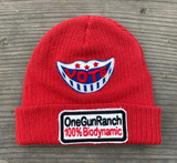 Momo X One Gun Red Beanie