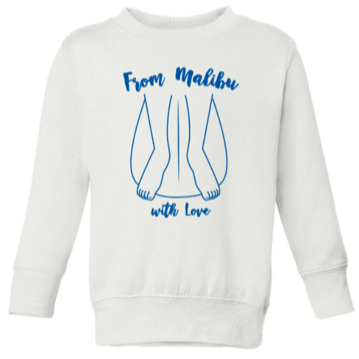 Gracias California From Malibu with Love White/Navy Sweatshirt