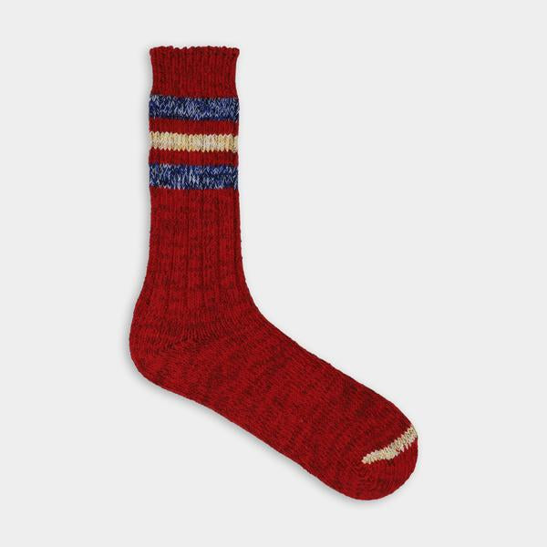 Red blue blue and yellow stripes. Thunder Love Outsiders Collection Socks. - Recycled Cotton 90% - Polyamide 8% - Elastane 2%