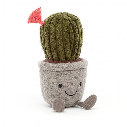 JellyCat Silly Succulent Cactus plush. The pot is gray and the top is green