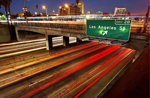 Original photo : Exit 2B Los Angeles, Connie Conway