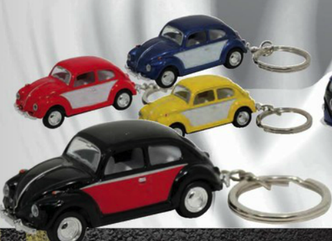 1967 Classic Old Bug Two-Tone Keychain (P/B)