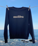 """malibu"" Faded Navy Sweatshirt"