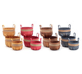 Wood Chip Apple Picking Baskets Set