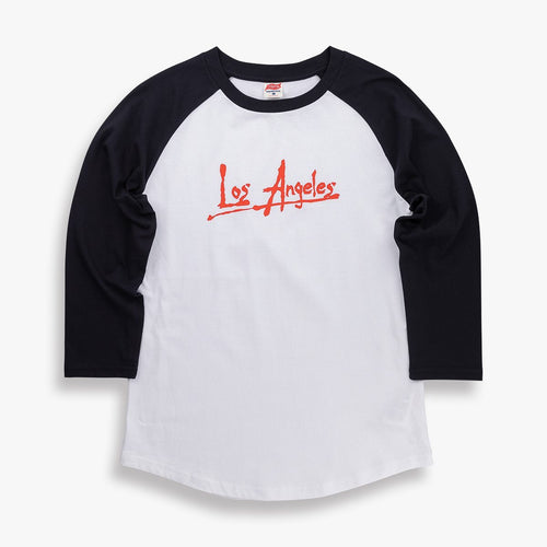 TSPTR Apocalypse LA Raglan T-Shirt in black and white. Premium weight soft 100% Portuguese cotton