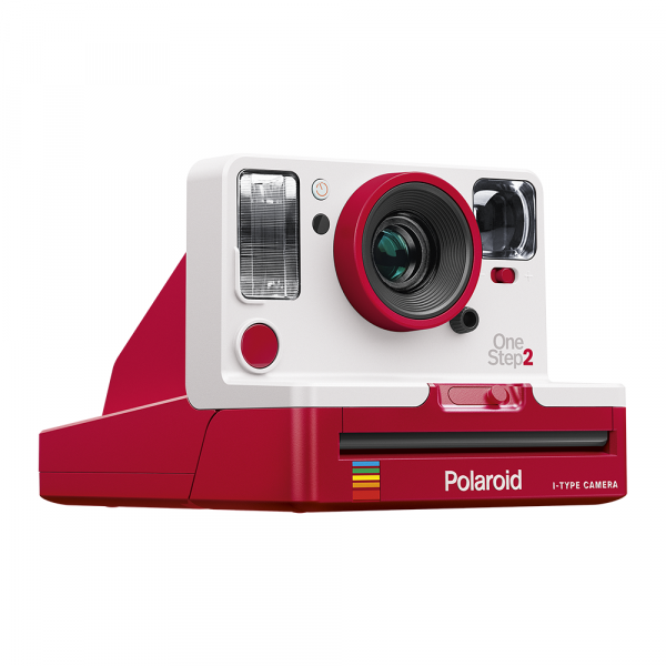 Red and White Polaroid Originals One Step 2 Analog Holiday Camera