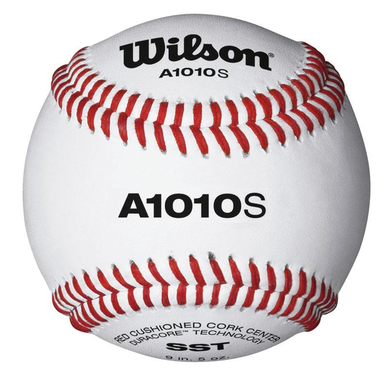 Wilson Baseball with red stitching. A1010S