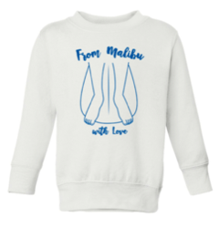 Gracias California From Malibu with Love White/Navy KIDS Sweatshirt