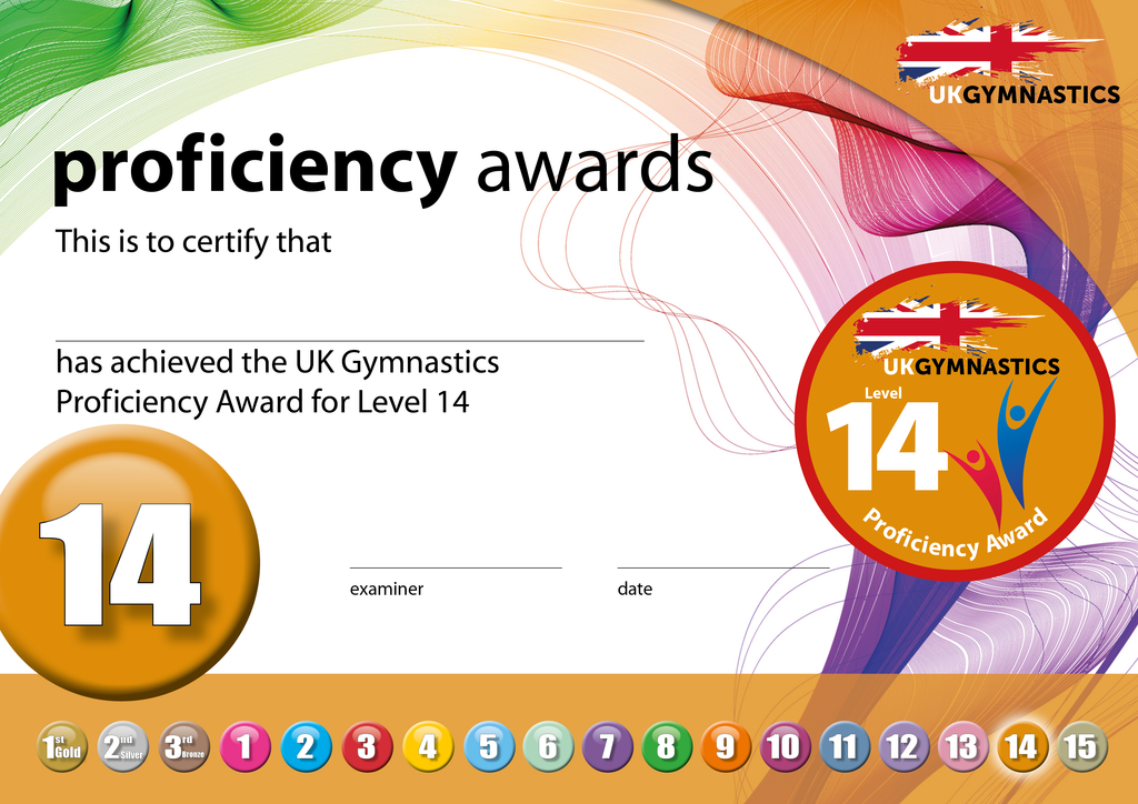 UK Gymnastics Proficiency Level 14 Award