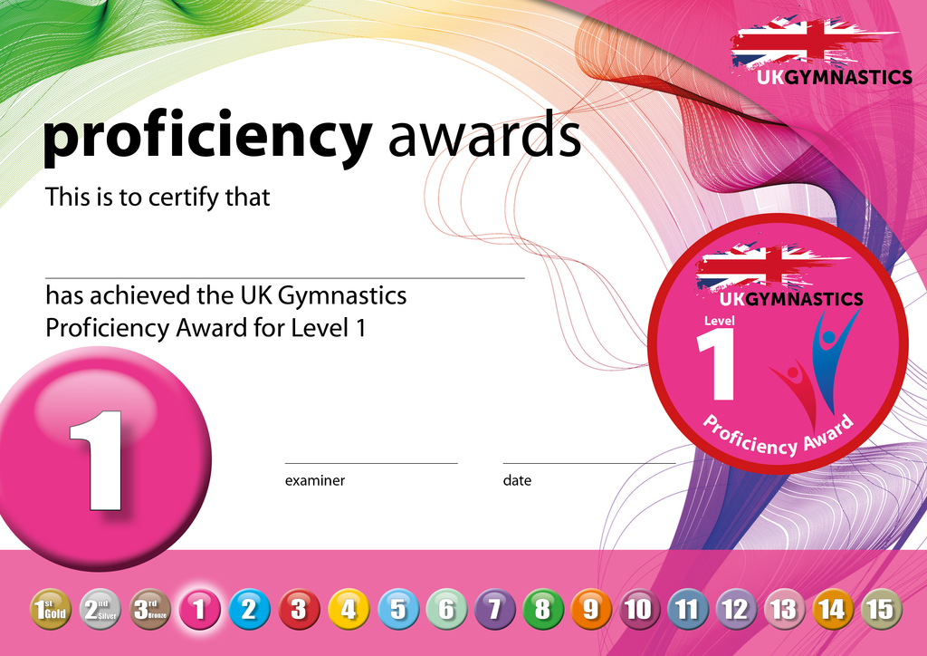 UK Gymnastics Proficiency Level 1 Award