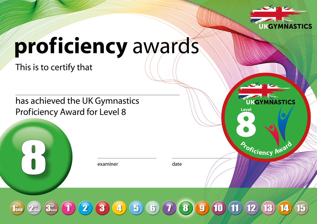 UK Gymnastics Proficiency Level 8 Award