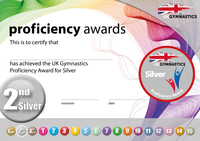 UK Gymnastics Proficiency Silver Award