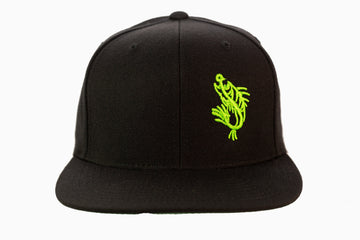 Black Logo Flat Bill Hat