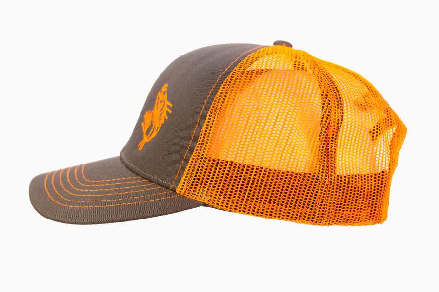 Orange on Grey Logo Hat