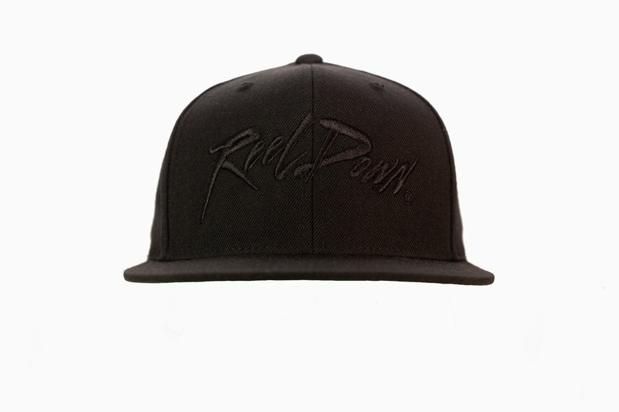 Black Out Reel Down Flat Bill Hat