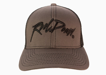 Dark Grey on Black Reel Down Hat