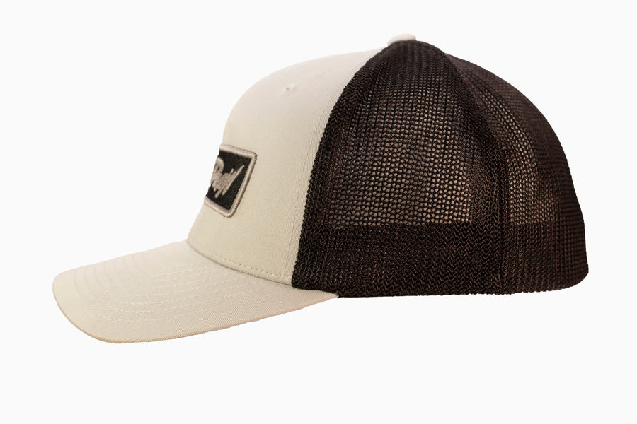 Light Grey on Black Patch Hat